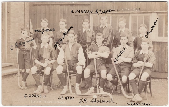 Surrey House School - Field Hockey - Mens Team - Early 1900s
