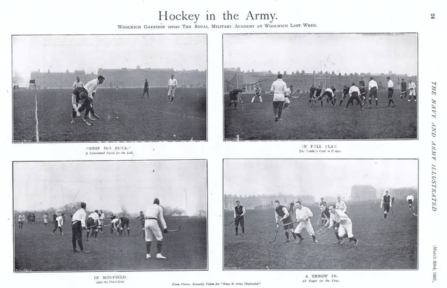 Antique Field Hockey - Hockey in the Army - Print - 1901