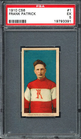 Frank Patrick - C56 - Imperial Tobacco Hockey Card- No1 - 1910