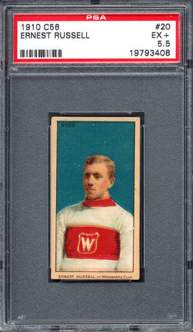 Ernest Russell - C56 - Imperial Tobacco Hockey Card - 1910