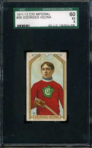 Georges Vezina - C55 - Imperial Tobacco Hockey Card - 1911