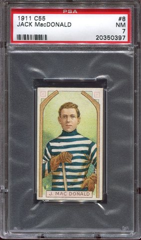 Jack MacDonald - C55 - Imperial Tobacco Hockey Card - 1911