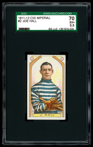 Joe Hall - C55 - Imperial Tobacco Hockey Card - 1911