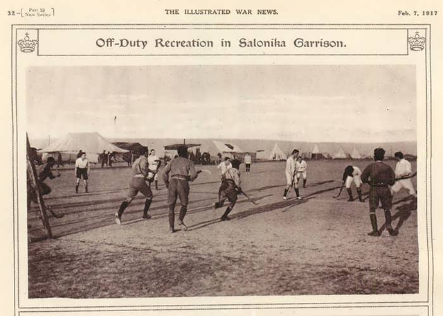Antique Military Field Hockey - Salonika - 1917