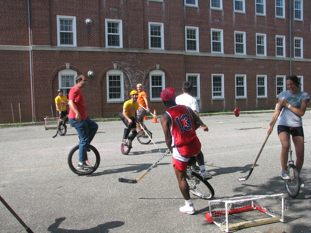 Unicycle Hockey at Governors Island, New York Harbour - 2011