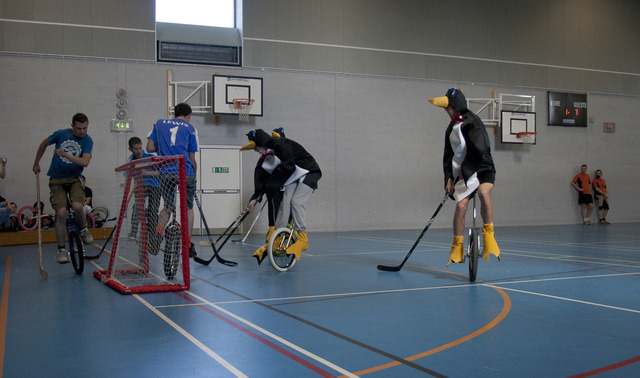 Unicycle Hockey Game - Southampton Penguins Tournament - 2012