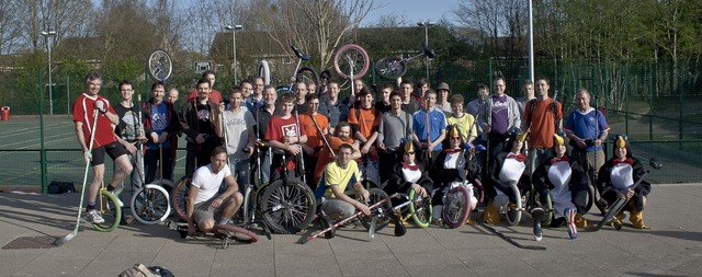 Unicycle Hockey - Southampton Penguins Tournament - Teams Photo